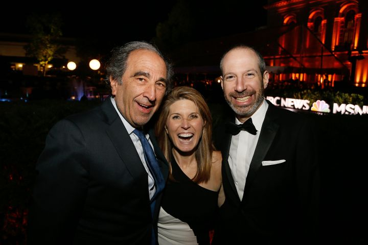 Andy Lack, left; Nicolle Wallace, center; and Noah Oppenheim, right.