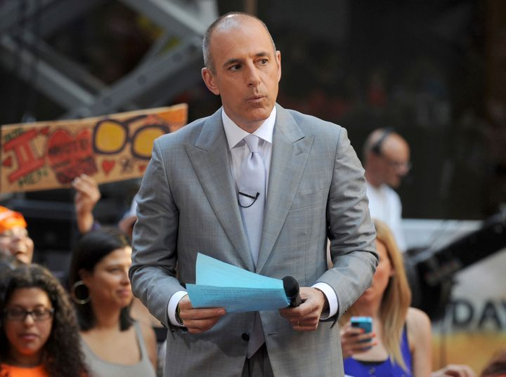 "Matt Lauer on the set of the ""Today"" show in 2013. He faces new allegations of sexual misconduct."