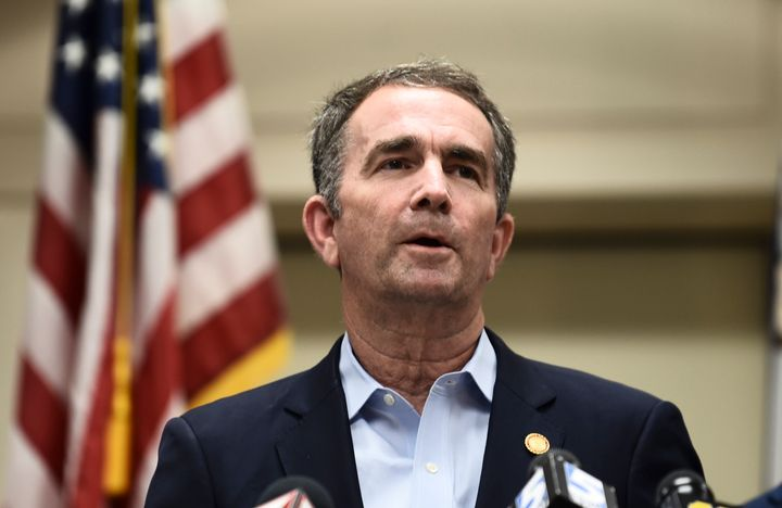 Virginia Gov. Ralph Northam (D) speaks about a mass shooting on June 1. Tougher gun laws would be a priority under unified De