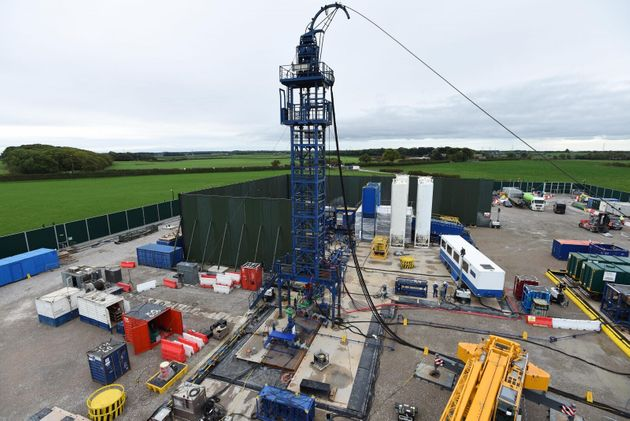 The Cuadrilla hydraulic fracturing site at Preston New Road shale gas exploration site in