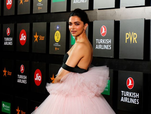 Bollywood actress Deepika Padukone poses during the opening ceremony of the 21st MAMI Mumbai film festival...