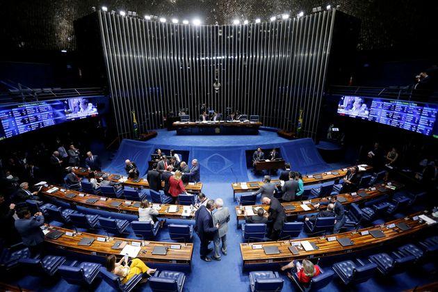Uma das sessões do Senado que votou a reforma da Previdência.