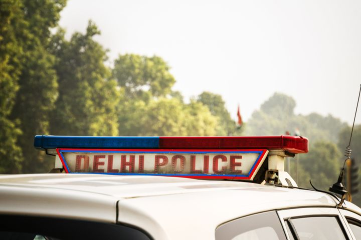 Representative image of a police car on the street in New Delhi, India,