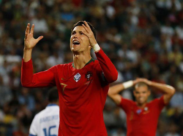 Cristiano Ronaldo en un partido con