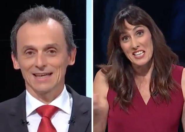 Pedro Duque deja con esta cara a la moderadora del debate de 'À