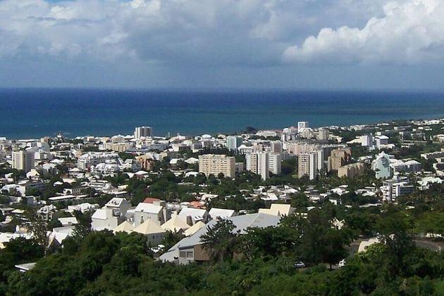 Une vue aérienne de Saint-Denis de La Réunion. (photo