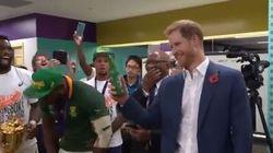 Le fair-play du prince Harry qui a trinqué avec les Springboks dans leur