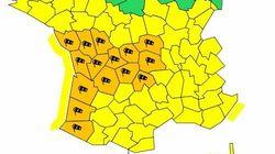 Quinze départements en vigilance orange avant l'arrivée de la tempête