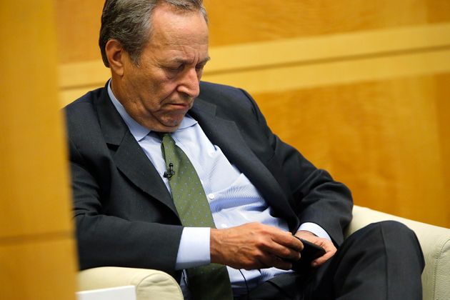 Larry Summers during a panel discussion at an International Monetary Fund conference in