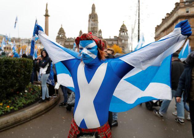 Διαδήλωση υπέρ της ανεξαρτησίας της Σκωτίας στη