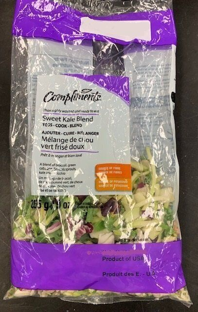 The Canadian Food Inspection Agency say Sobeys Inc. is recalling Compliments brand fresh cut vegetable...