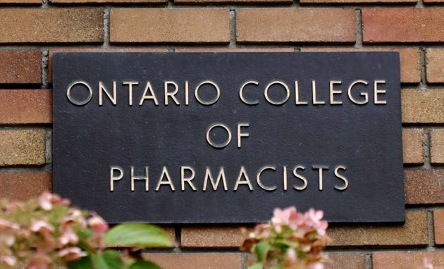A sign for the Ontario College of Pharmacists is seen at its headquarters in Toronto on Friday.