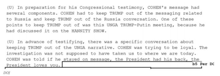 This memo on Michael Cohen was obtained by BuzzFeed.