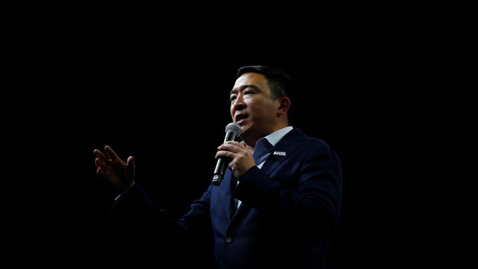 Andrew Yang, le 1er novembre à Des Moines, dans
