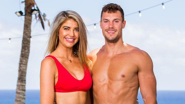 Love Island Australia's Anna McEvoy and Josh Packam.