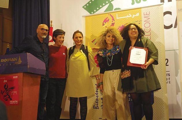 La réalisatrice marocaine Yasmine Ben Abdallah (tout à droite) a remporté le prix