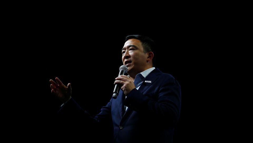 Andrew Yang, le 1er novembre à Des Moines, dans l'Iowa.