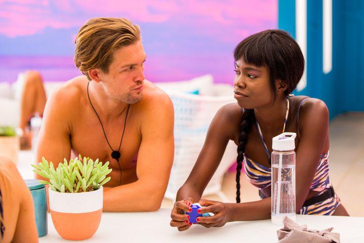 Love Island Australia's Aaron Shaw and Cynthia Taylu.