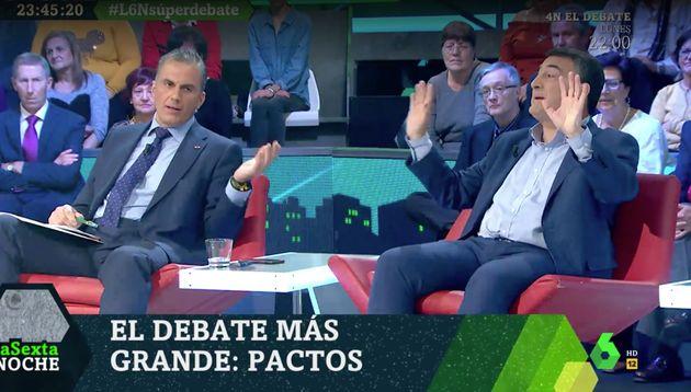Javier Ortega Smith y Aitor Esteban en 'LaSexta