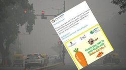 Face à la pollution en Inde, le ministre de la Santé conseille de manger des
