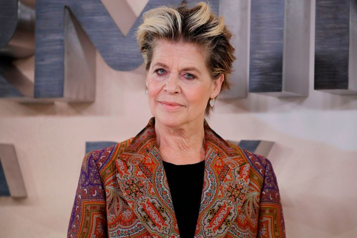 """Linda Hamilton arrives at the premiere of """"Terminator: Dark Fate"""" in London on Oct. 17."""