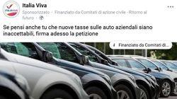 Italia Viva raccoglie firme contro la tassa sulle auto
