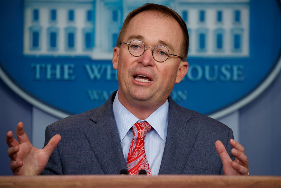 White House chief of staff Mick Mulvaney admitted in a press conference that the Trump administration engaged in an attempted