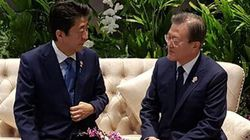 문재인 대통령과 아베 총리가 13개월 만에 만나
