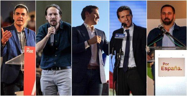 Los candidatos de los cinco principales
