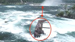 Century-Old Shipwreck Atop Niagara Falls Breaks Free, Creeps Closer To The