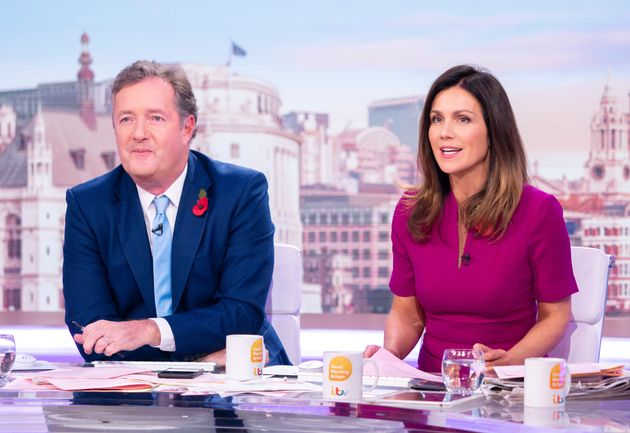 Piers Morgan and Susanna Reid on Good Morning