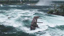 Un bateau coincé depuis un siècle en haut des chutes du Niagara s'est