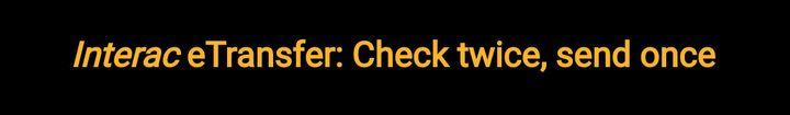 etransfer: check twice, send once