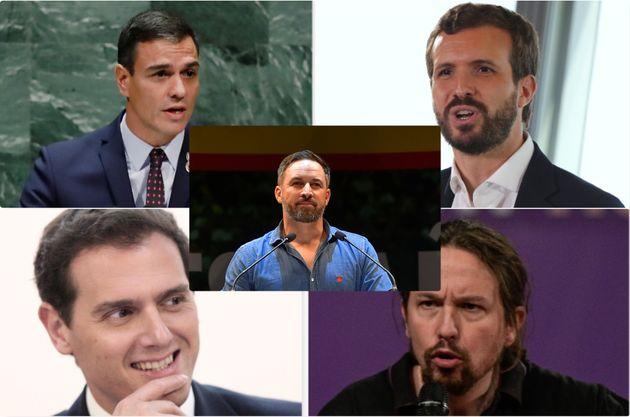 I cinque principali candidati alle elezioni del 10 novembre in