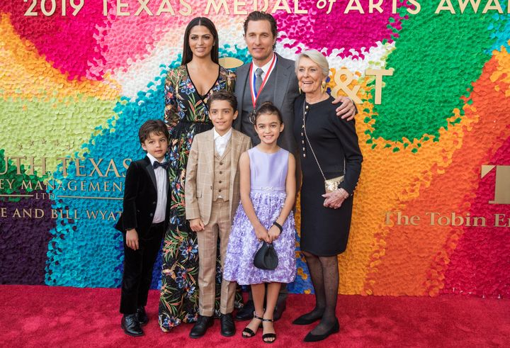 McConaughey and his family attend the 2019 Texas Medal Of Arts Awards at the Long Center for the Performing Arts on February 27, 2019, in Austin, Texas.