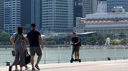 Rouler en trottinette électrique sur les trottoirs de Singapour est passible de
