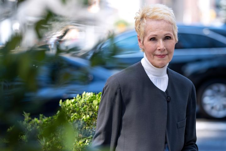 E. Jean Carroll is photographed, Sunday, June 23, 2019, in New York. Carroll, a New York-based advice columnist, claims Donal