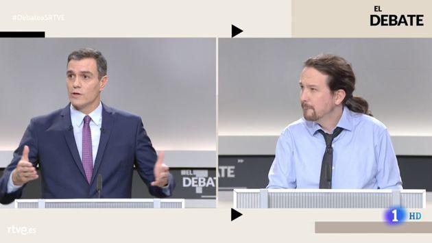 Pedro Sánchez y Pablo Iglesias en El
