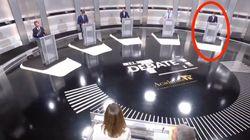 Un espectador descubre lo que ha hecho Rivera con su atril durante el debate: mira bien a sus