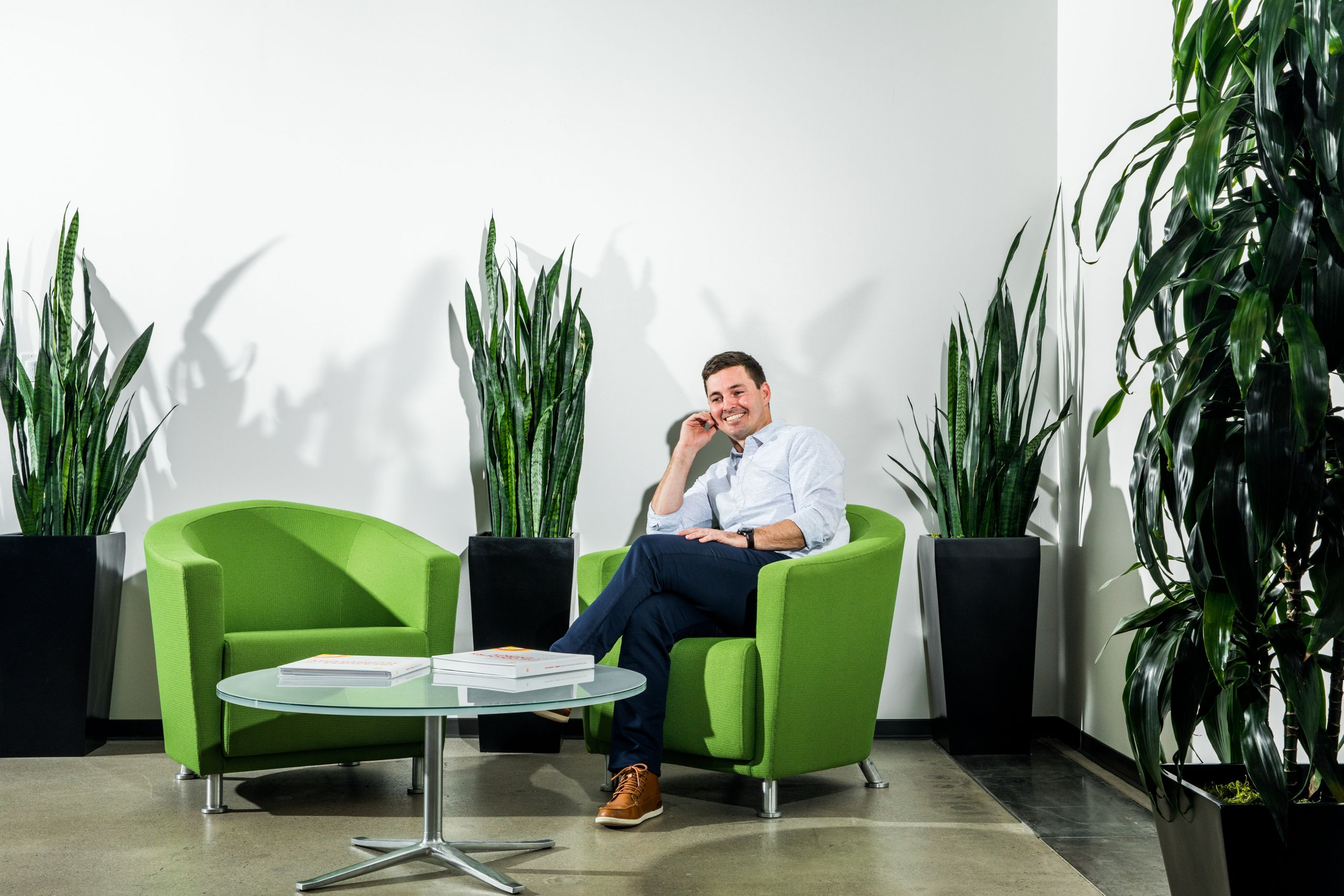 Ryan Hanley, GM of Energy Platform poses for a portrait at the Royal Dutch Shell offices in San Francisco.