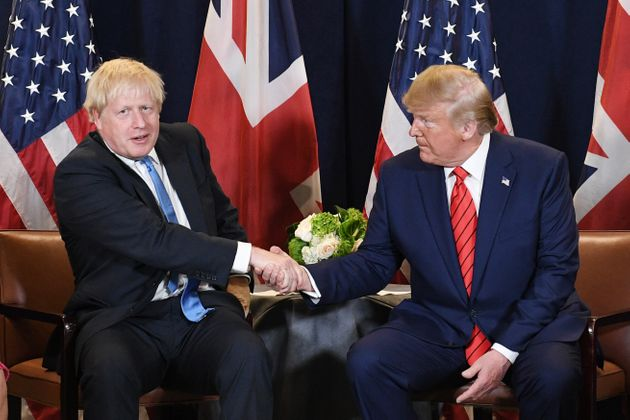 Prime Minister Boris Johnson (left) meets US President Donald Trump at the 74th Session of the UN General...