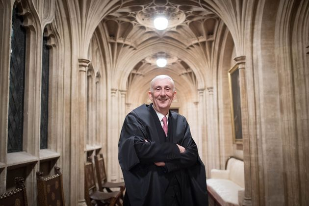 Sir Lindsay Hoyle in the House of Commons after becoming the new Speaker following John Bercow's departure...