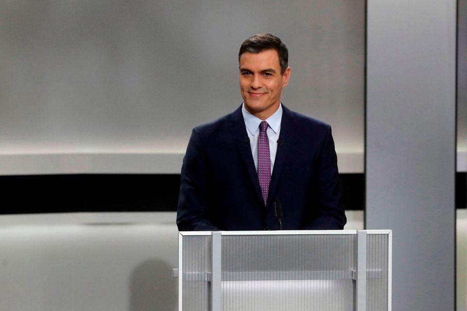 Sánchez durante el debate del