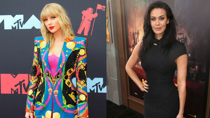 Taylor Swift (L) and Megan Gale (R) are not attending the Melbourne Cup.