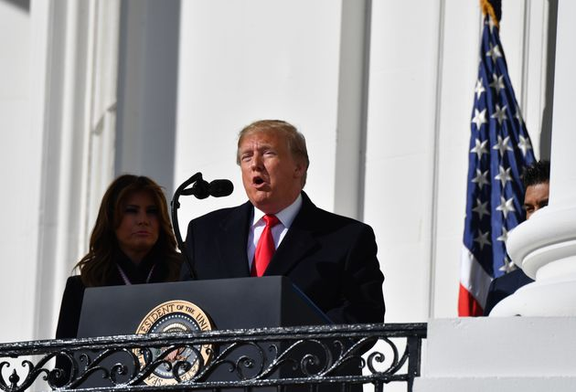 US President Donald Trump and First Lady Melania Trump welcome the 2019 World Series Champions, The Washington...