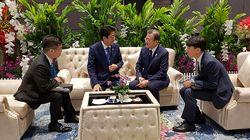 한일 정상 '환담'에 대한 일본 정부의 설명은 한국과 조금