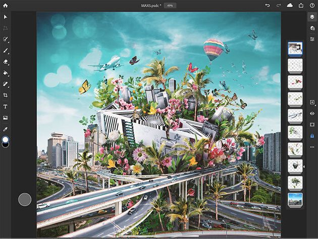 iPad版Photoshopが公開 PSDファイルをiPadで編集可能に