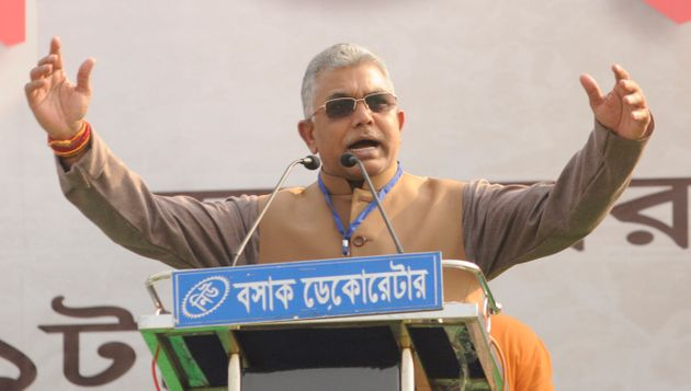 West Bengal BJP President Dilip Ghosh in a file