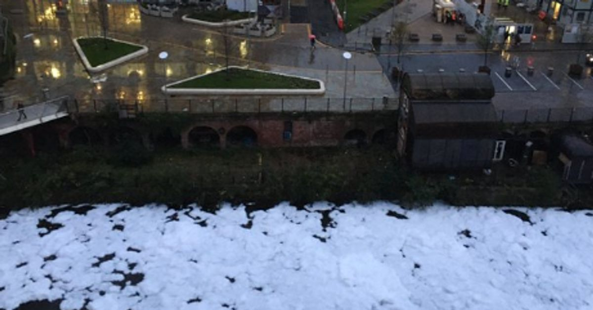 River Irwell 'Polluted' With Mysterious White Foam