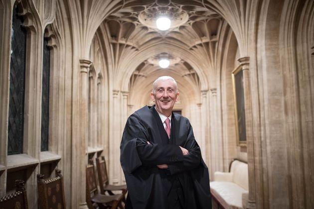 Sir Lindsay Hoyle, posando ayer en los Comunes tras su